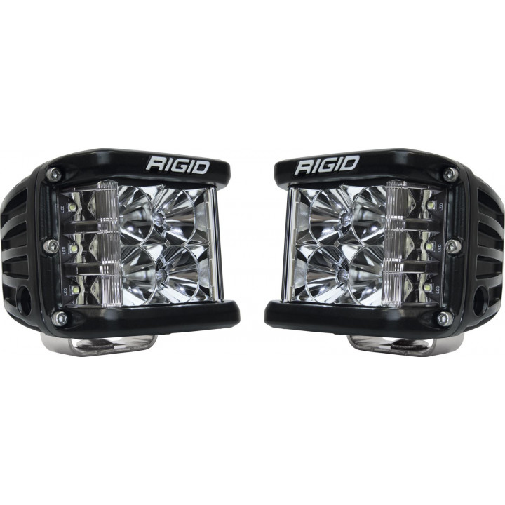 Rigid Industries 26211 - Dually Side Shooter LED Flood Light Cube - (Surface Mount) - (Black Housing) - (Pair)
