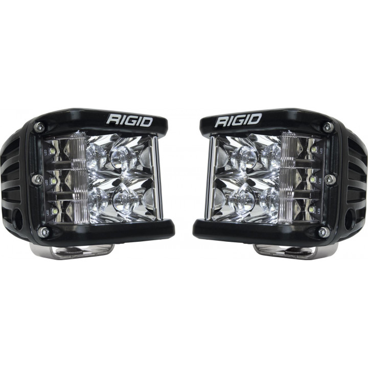 Rigid Industries 26221 - Dually Side Shooter LED Spot Light Cube - (Surface Mount) - (Black Housing) - (Pair)