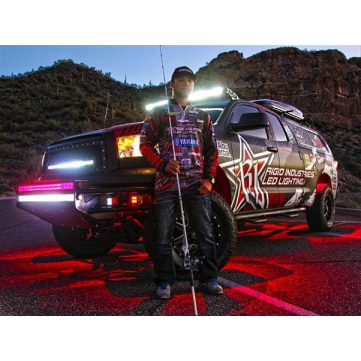 Rigid Industries 40026 - A-Series Rock Light Kit - LED - (6 Lights) - (Red)
