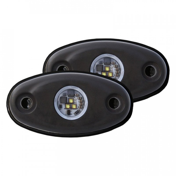 Rigid Industries 48227 - A-Series LED Light, Cool White LED, High Strength, Tri-Plex, Set Of 2