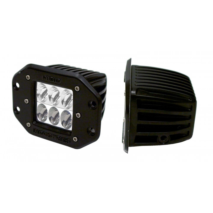 Rigid Industries 51111 - D2 - Flush Mount - Wide - Single
