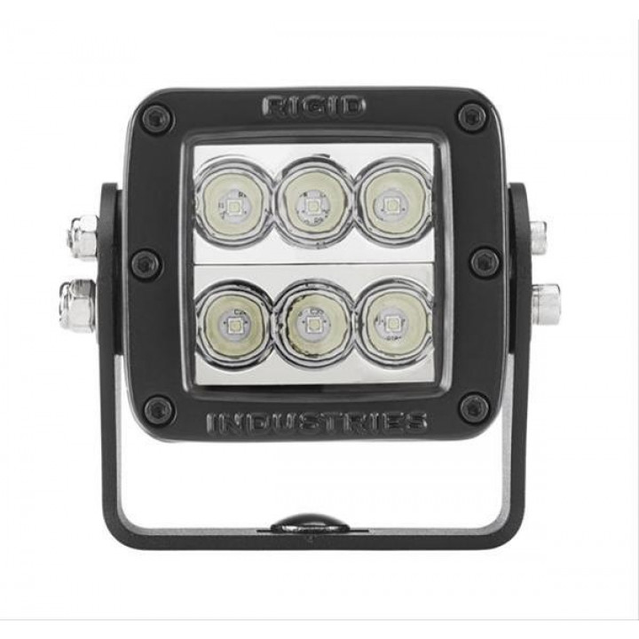 Rigid Industries 52111MIL - D2-Series LED Light - HD - (Wide) - (Black) - (MILSTD461F) - (Single)