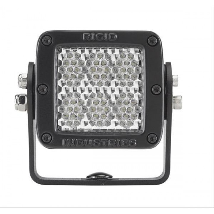 Rigid Industries 52151MIL - D2-Series LED Light - HD - (Diffused) - (60 Deg) - (Black) - (MILSTD461F) - (Single)