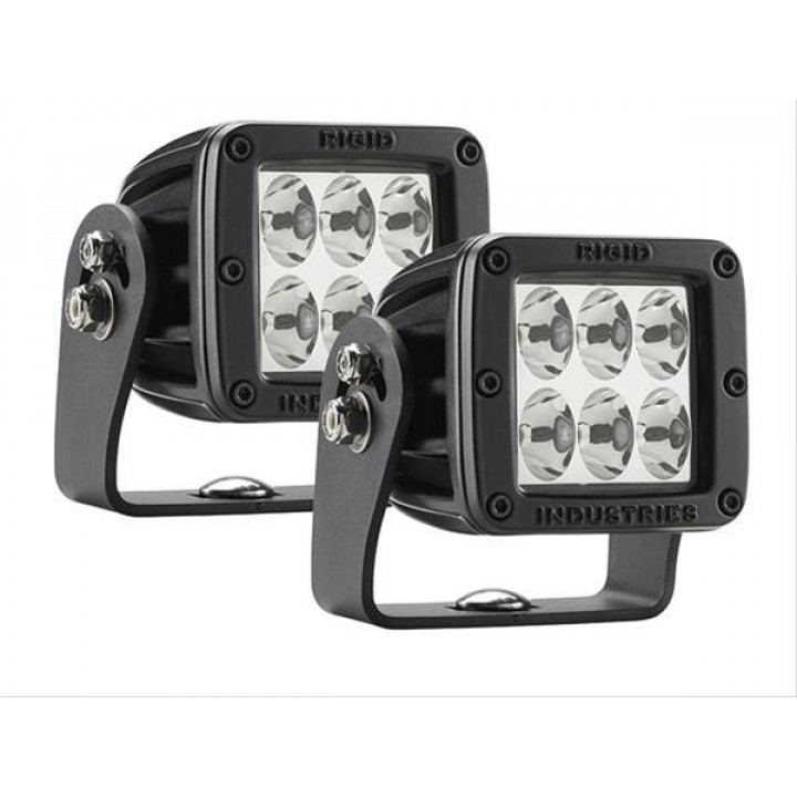 Rigid Industries 52231MIL - D2-Series LED Light - HD - (Drive) - (Black) - (MILSTD461F) - (Pair)