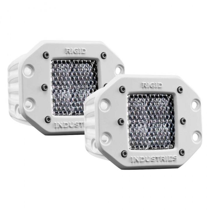 Rigid Industries 61251 - M-Series - Flush Mount - Dually - 60 Deg. Lens - Set of 2