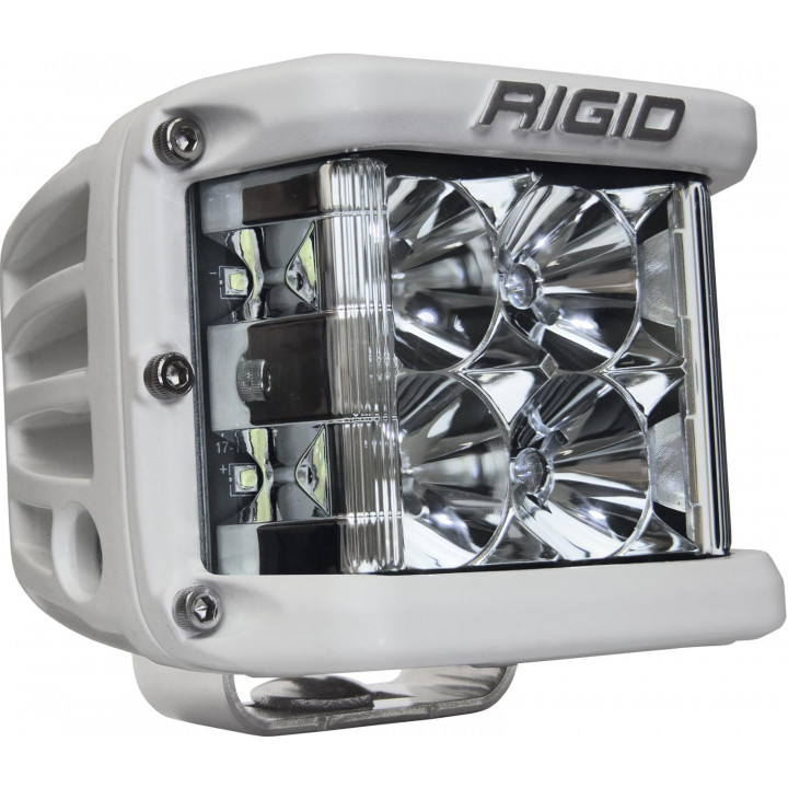 Rigid Industries 86111 - Dually Side Shooter LED Flood Light Cube - (Surface Mount) - (White Housing) - (Each)