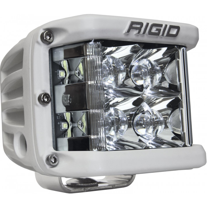 Rigid Industries 86121 - Dually Side Shooter LED Spot Light Cube - (Surface Mount) - (White Housing) - (Each)