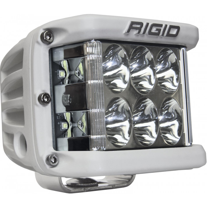Rigid Industries 86131 - Dually Side Shooter LED Driving Light Cube - (Surface Mount) - (White Housing) - (Each)
