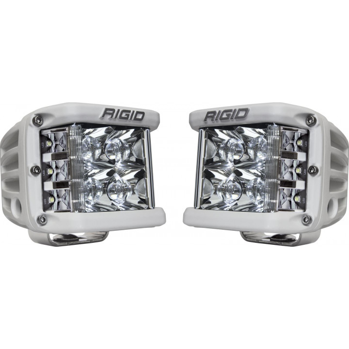 Rigid Industries 86221 - Dually Side Shooter LED Spot Light Cube - (Surface Mount) - (White Housing) - (Pair)