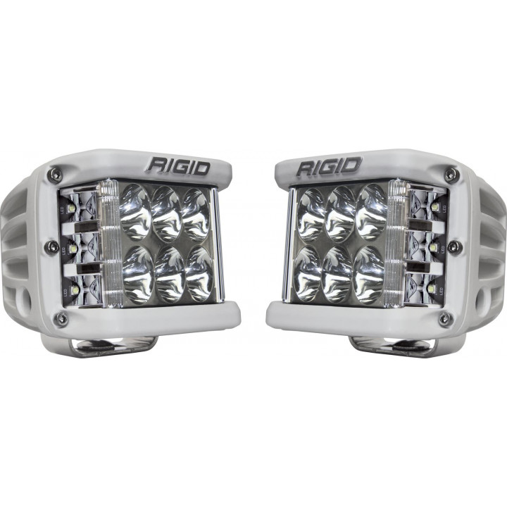 Rigid Industries 86231 - Dually Side Shooter LED Driving Light Cube - (Surface Mount) - (White Housing) - (Pair)
