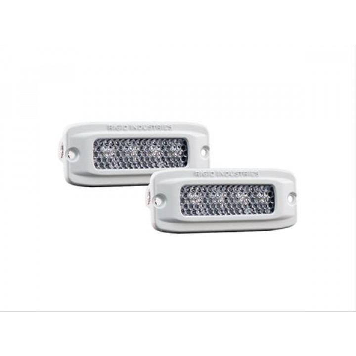 Rigid Industries 96550 - SR-Q RGB Marine Diffused LED Light - (Set Of 2)