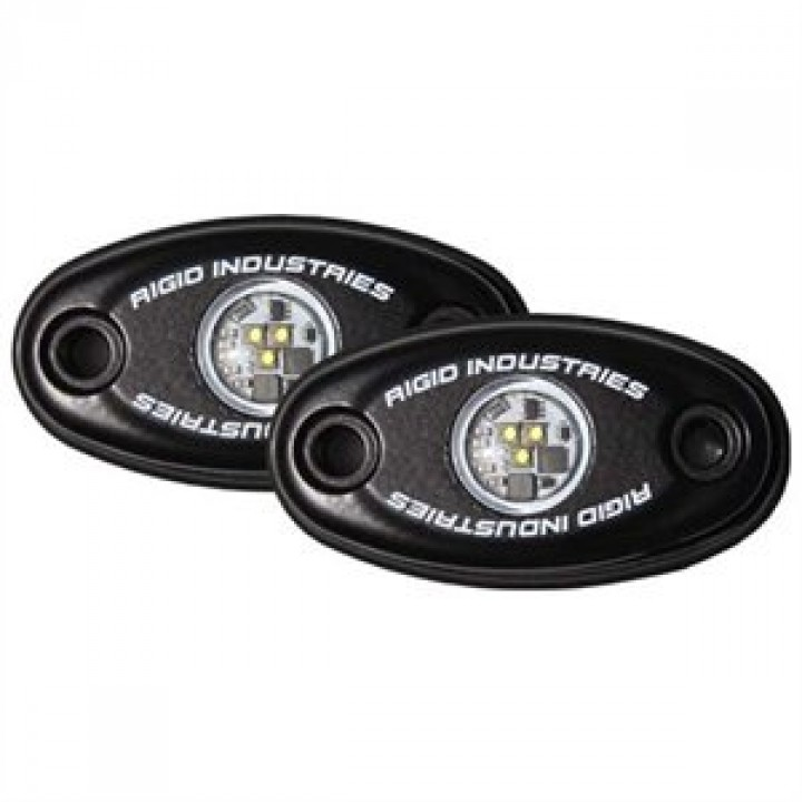 Rigid Industries 48201 - A-Series LED Light, Warm White LED, Low Strength, Black Housing, Set Of 2