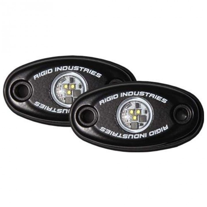 Rigid Industries 48206 - A-Series LED Light, Green LED, Low Strength, Black Housing, Set Of 2
