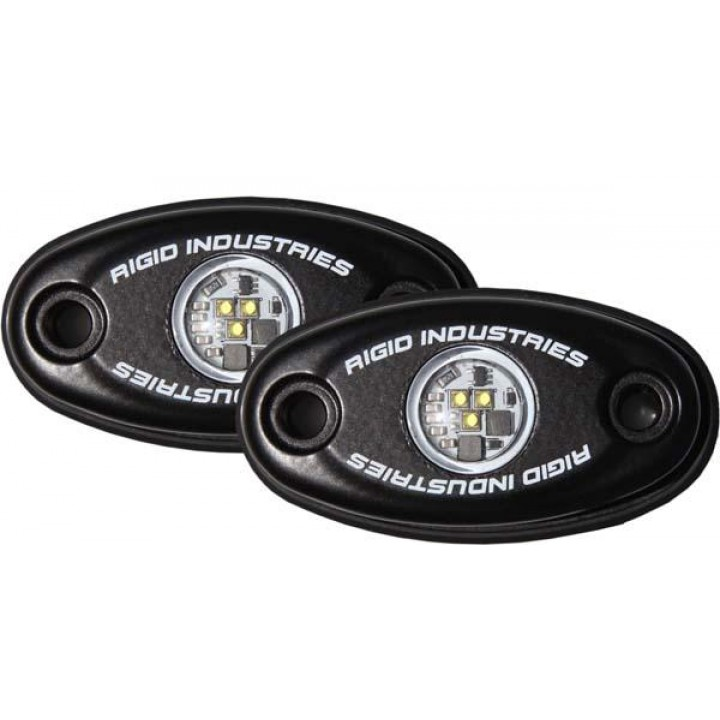 Rigid Industries 48208 - A-Series LED Light, Natural White LED, High Strength, Black Housing, Set Of 2