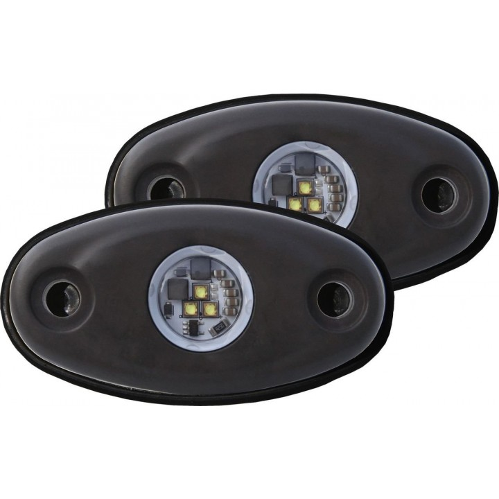 Rigid Industries 48228 - A-Series LED Light, Red LED, High Strength, Tri-Plex, Set Of 2