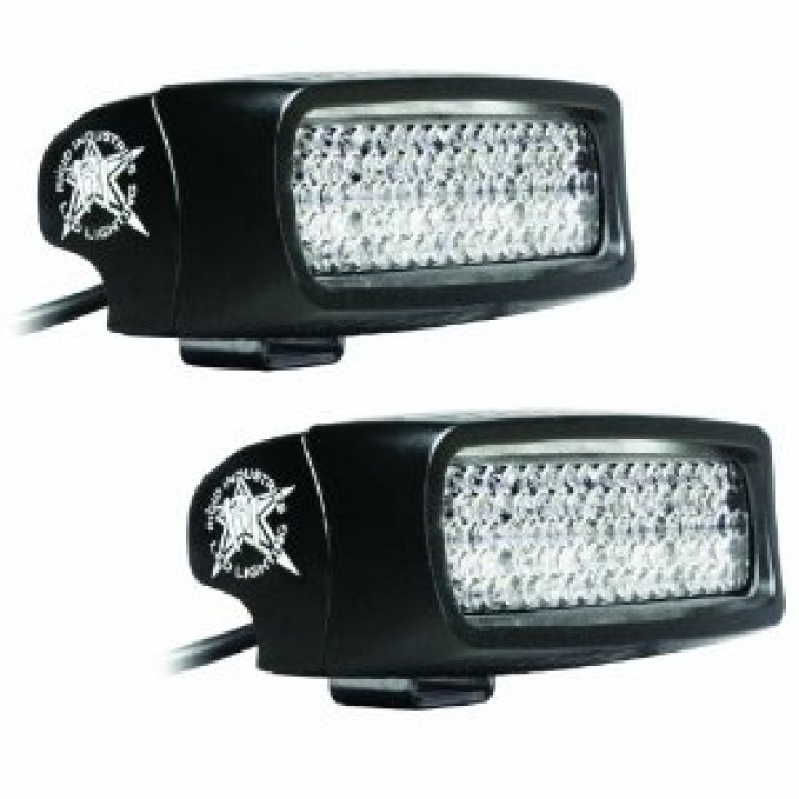 Rigid Industries 98002 - SR-Q Series, LED Back Up Light, Single Row Quad, Diffused, Kit Includes 2 LED Lights/Extended Wire Harness/Necessary Hardware