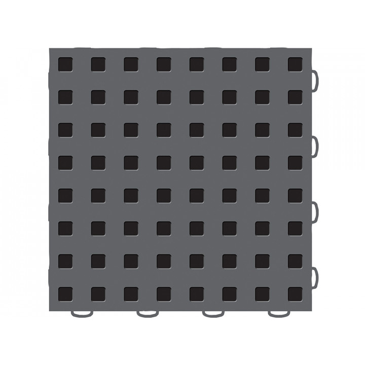 WeatherTech 51T1212 DG-BK - TechFloor - Garage Floor Tile - (Dark Gray/Black) - (12 in. x 12 in.) - (Pack of 10)