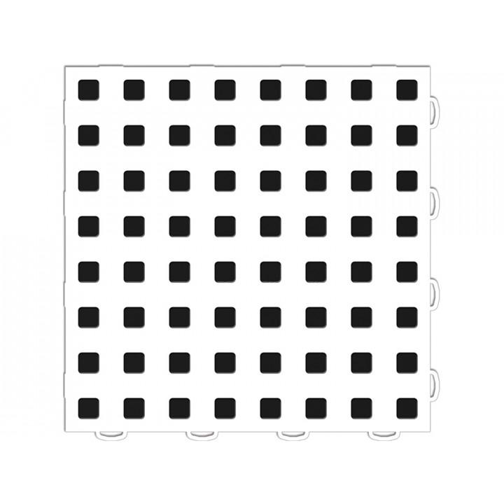 WeatherTech 51T1212 WH-BK - TechFloor - Garage Floor Tile - (White/Black) - (12 in. x 12 in.) - (Pack of 10)