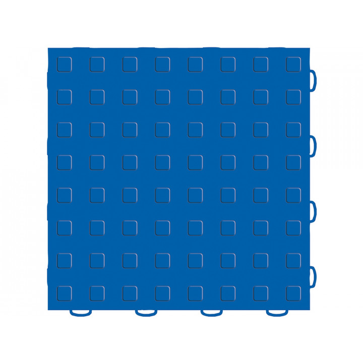 WeatherTech 51T1212SS BL - TechFloor - Solid Floor Tile - (Raised Squares) - (12 in. x 12 in.) - (Blue)