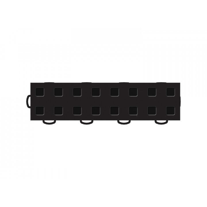 WeatherTech 51T312LL BK-BK - TechFloor - Garage Floor Tile - (Black/Black) - (Interlocking - Left Loop) - (3 in. x 12 in.) - (Pack of 10)