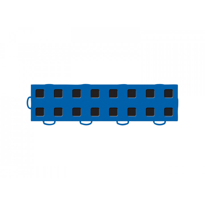WeatherTech 51T312LL BL-BK - TechFloor - Garage Floor Tile - (Blue/Black) - (Interlocking - Left Loop) - (3 in. x 12 in.) - (Pack of 10)
