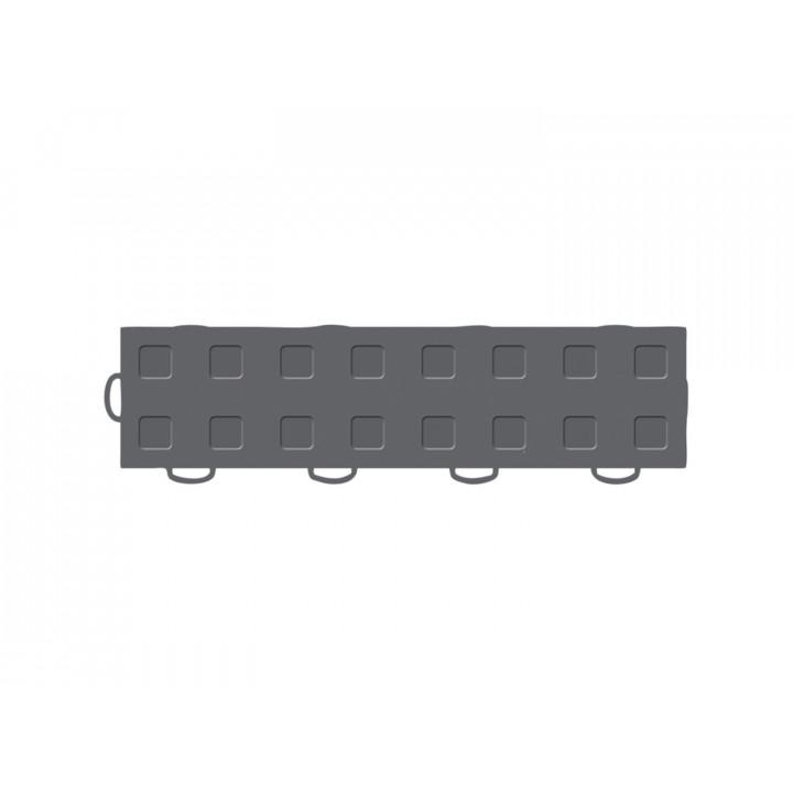 WeatherTech 51T312LL DG-DG - TechFloor - Garage Floor Tile - (Dark Gray/Dark Gray) - (Interlocking - Left Loop) - (3 in. x 12 in.) - (Pack of 10)