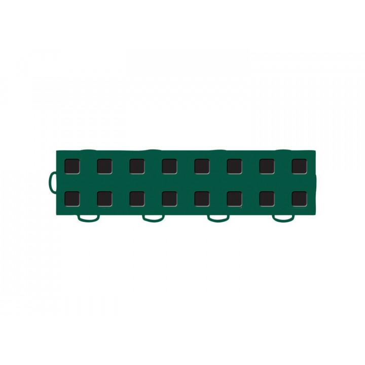 WeatherTech 51T312LL GN-BK - TechFloor - Garage Floor Tile - (Green/Black) - (Interlocking - Left Loop) - (3 in. x 12 in.) - (Pack of 10)