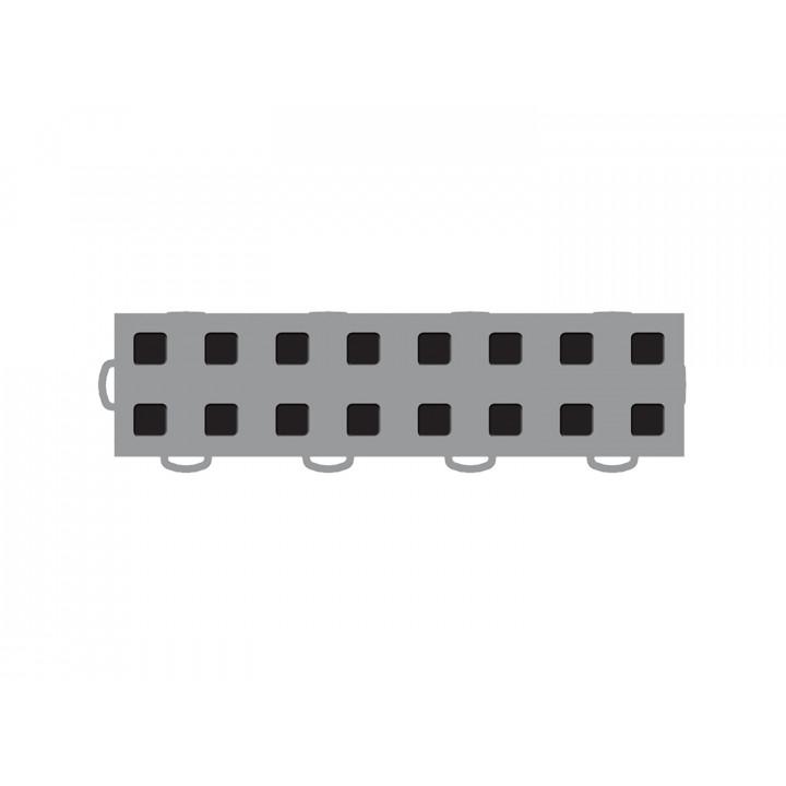 WeatherTech 51T312LL GR-BK - TechFloor - Garage Floor Tile - (Gray/Black) - (Interlocking - Left Loop) - (3 in. x 12 in.) - (Pack of 10)