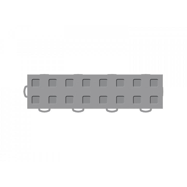 WeatherTech 51T312LL GR-GR - TechFloor - Garage Floor Tile - (Gray/Gray) - (Interlocking - Left Loop) - (3 in. x 12 in.) - (Pack of 10)