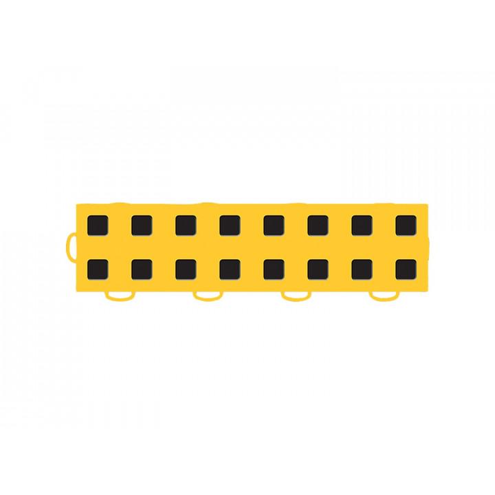 WeatherTech 51T312LL GY-BK - TechFloor - Garage Floor Tile - (Golden Yellow/Black) - (Interlocking - Left Loop) - (3 in. x 12 in.) - (Pack of 10)