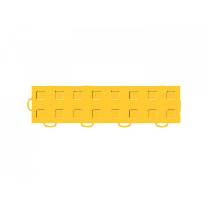 WeatherTech 51T312LL GY-GY - TechFloor - Garage Floor Tile - (Golden Yellow/Golden Yellow) - (Interlocking - Left Loop) - (3 in. x 12 in.) - (Pack of 10)