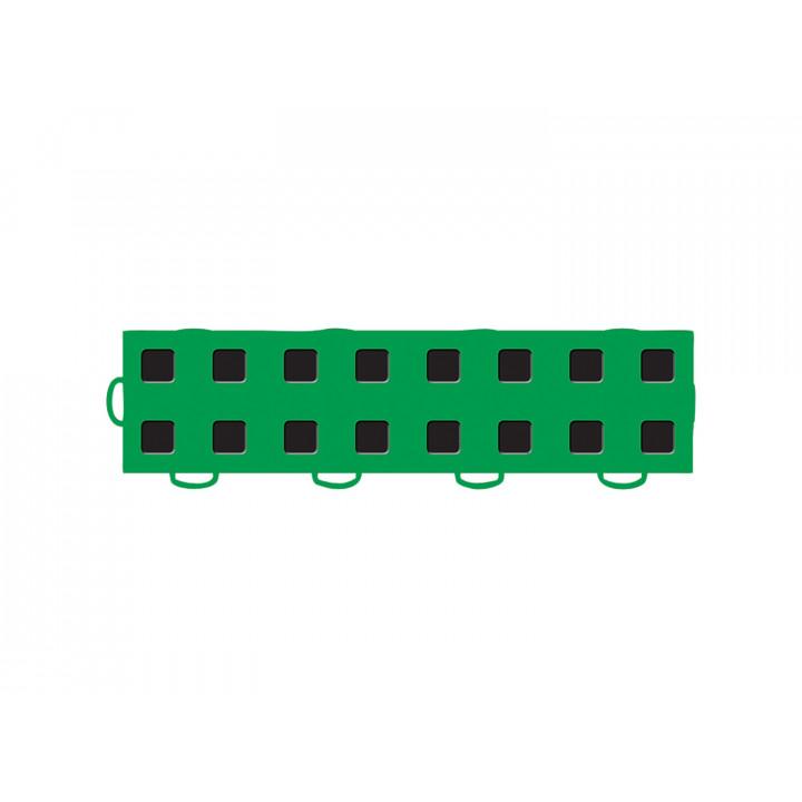 WeatherTech 51T312LL KG-BK - TechFloor - Garage Floor Tile - (Kelly Green/Black) - (Interlocking - Left Loop) - (3 in. x 12 in.) - (Pack of 10)