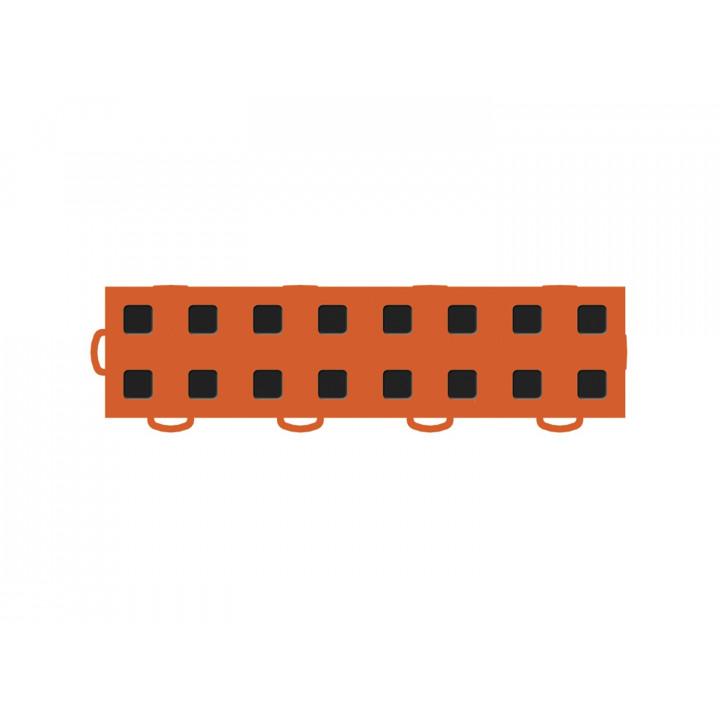 WeatherTech 51T312LL OR-BK - TechFloor - Garage Floor Tile - (Orange/Black) - (Interlocking - Left Loop) - (3 in. x 12 in.) - (Pack of 10)