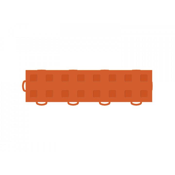WeatherTech 51T312LL OR-OR - TechFloor - Garage Floor Tile - (Orange/Orange) - (Interlocking - Left Loop) - (3 in. x 12 in.) - (Pack of 10)