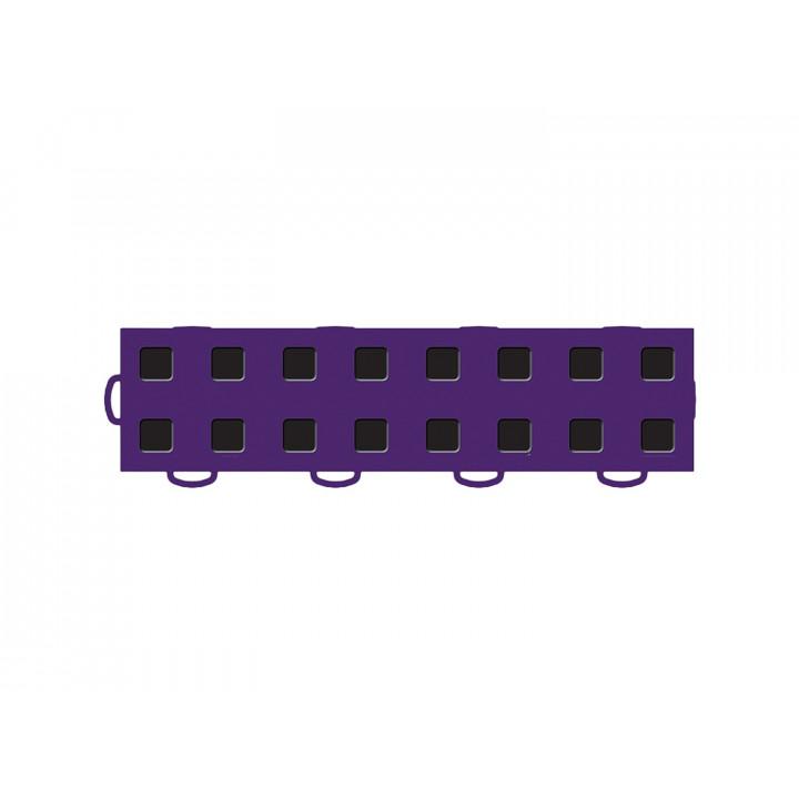 WeatherTech 51T312LL PU-BK - TechFloor - Garage Floor Tile - (Purple/Black) - (Interlocking - Left Loop) - (3 in. x 12 in.) - (Pack of 10)