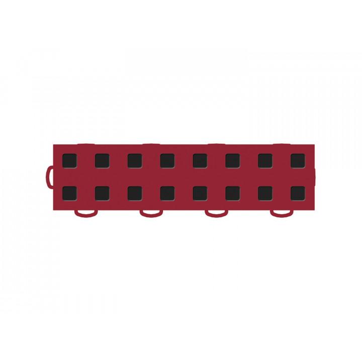 WeatherTech 51T312LL RD-BK - TechFloor - Garage Floor Tile - (Red/Black) - (Interlocking - Left Loop) - (3 in. x 12 in.) - (Pack of 10)