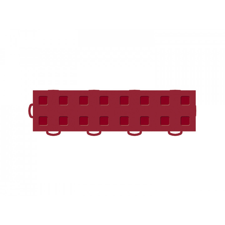 WeatherTech 51T312LL RD-RD - TechFloor - Garage Floor Tile - (Red/Red) - (Interlocking - Left Loop) - (3 in. x 12 in.) - (Pack of 10)
