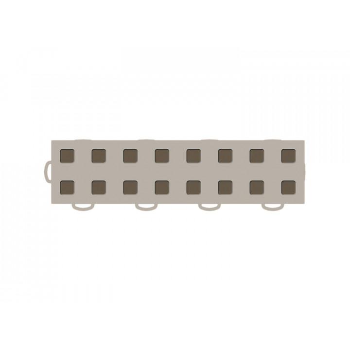 WeatherTech 51T312LL TN-MB - TechFloor - Garage Floor Tile - (Tan/Md Brown) - (Interlocking - Left Loop) - (3 in. x 12 in.) - (Pack of 10)