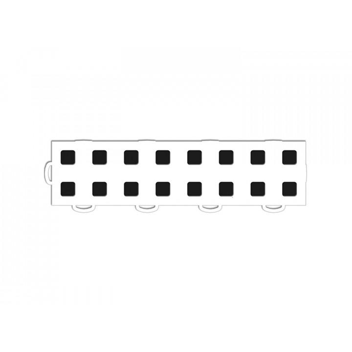 WeatherTech 51T312LL WH-BK - TechFloor - Garage Floor Tile - (White/Black) - (Interlocking - Left Loop) - (3 in. x 12 in.) - (Pack of 10)