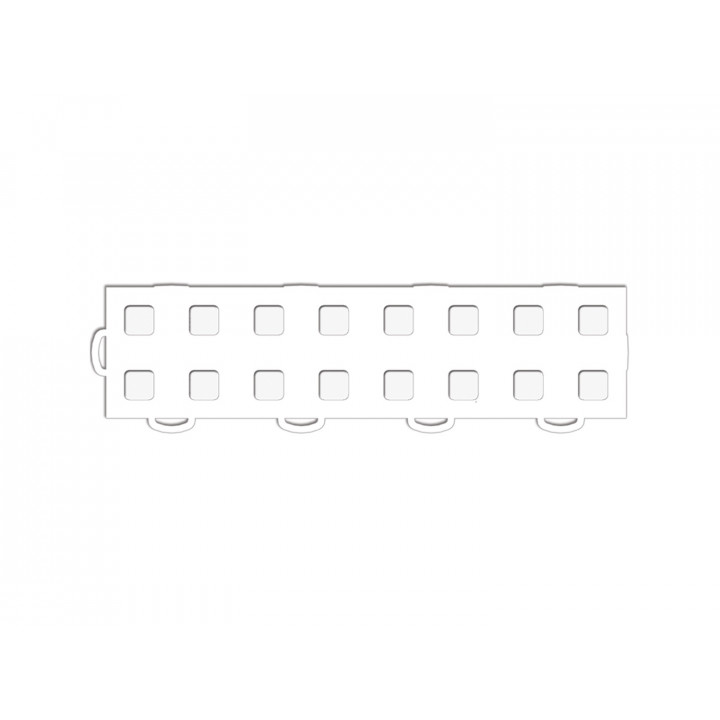 WeatherTech 51T312LL WH-WH - TechFloor - Garage Floor Tile - (White/White) - (Interlocking - Left Loop) - (3 in. x 12 in.) - (Pack of 10)