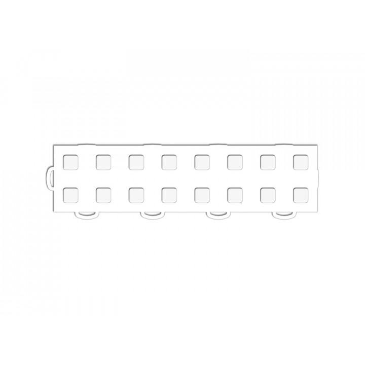 WeatherTech 51T312LL WH-WH - TechFloor - Garage Floor Tile - (White/White) - (Interlocking - Left Loop) - (3 in. x 12 in.) - (Pack of 10)