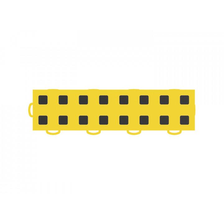 WeatherTech 51T312LL YL-BK - TechFloor - Garage Floor Tile - (Yellow/Black) - (Interlocking - Left Loop) - (3 in. x 12 in.) - (Pack of 10)