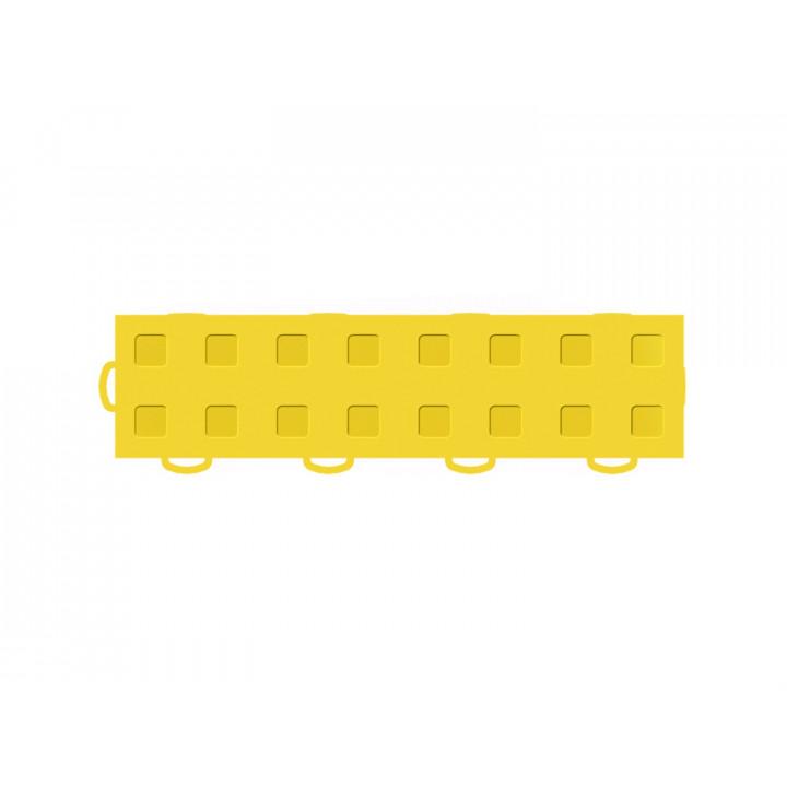 WeatherTech 51T312LL YL-YL - TechFloor - Garage Floor Tile - (Yellow/Yellow) - (Interlocking - Left Loop) - (3 in. x 12 in.) - (Pack of 10)