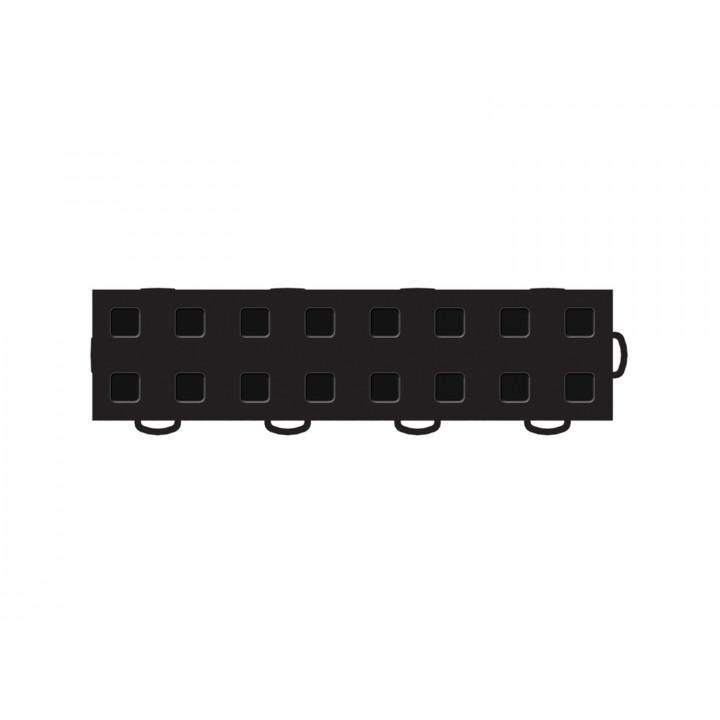 WeatherTech 51T312RL BK-BK - TechFloor - Garage Floor Tile - (Black/Black) - (Interlocking - Right Loop) - (3 in. x 12 in.) - (Pack of 10)