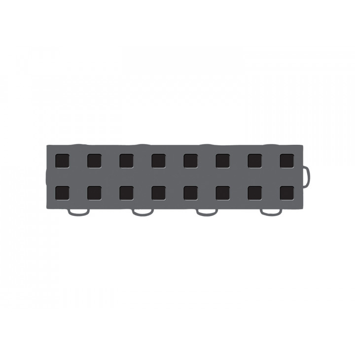 WeatherTech 51T312RL DG-BK - TechFloor - Garage Floor Tile - (Dark Gray/Black) - (Interlocking - Right Loop) - (3 in. x 12 in.) - (Pack of 10)