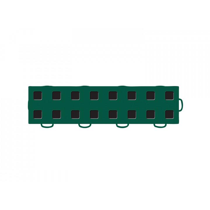 WeatherTech 51T312RL GN-BK - TechFloor - Garage Floor Tile - (Green/Black) - (Interlocking - Right Loop) - (3 in. x 12 in.) - (Pack of 10)