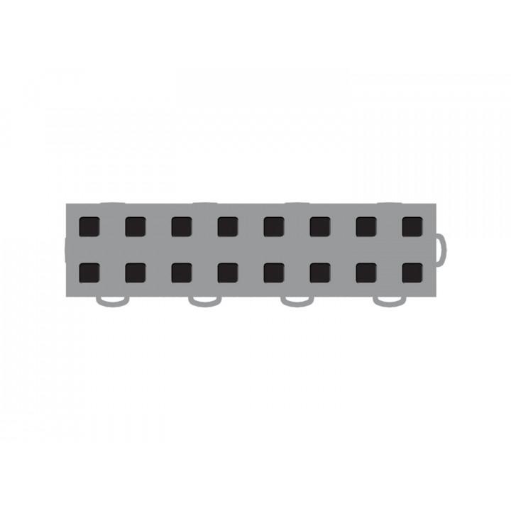 WeatherTech 51T312RL GR-BK - TechFloor - Garage Floor Tile - (Gray/Black) - (Interlocking - Right Loop) - (3 in. x 12 in.) - (Pack of 10)