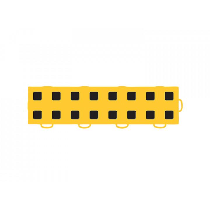 WeatherTech 51T312RL GY-BK - TechFloor - Garage Floor Tile - (Golden Yellow/Black) - (Interlocking - Right Loop) - (3 in. x 12 in.) - (Pack of 10)
