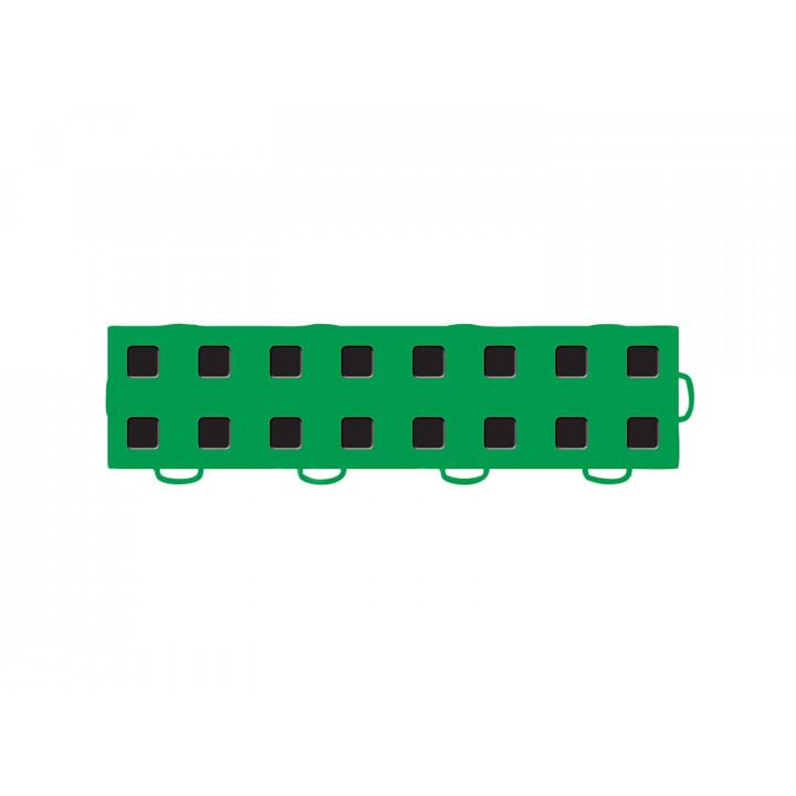 WeatherTech 51T312RL KG-BK - TechFloor - Garage Floor Tile - (Kelly Green/Black) - (Interlocking - Right Loop) - (3 in. x 12 in.) - (Pack of 10)