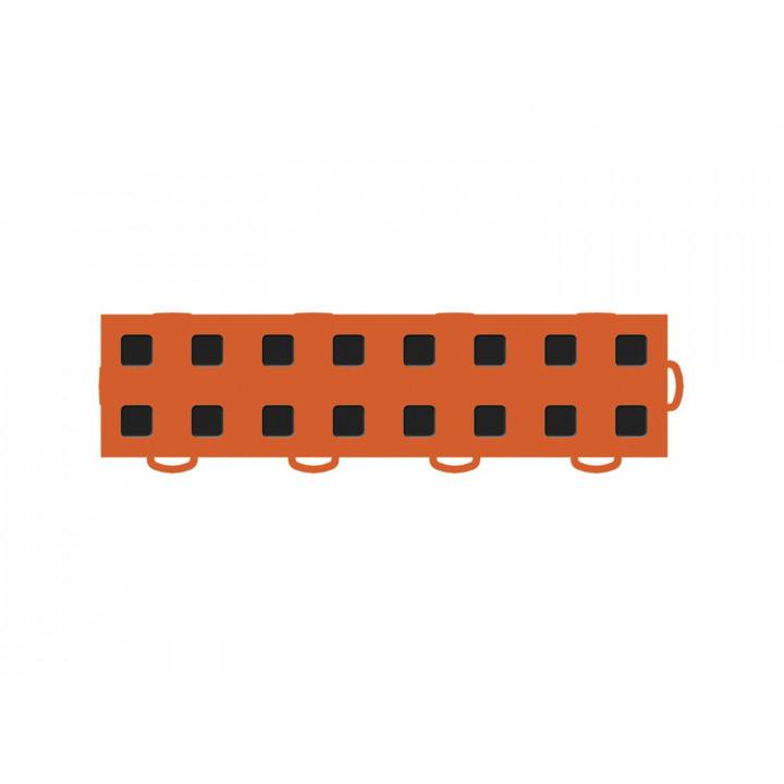 WeatherTech 51T312RL OR-BK - TechFloor - Garage Floor Tile - (Orange/Black) - (Interlocking - Right Loop) - (3 in. x 12 in.) - (Pack of 10)